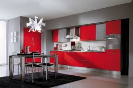 red kitchen sets