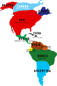 continente americano con nombres