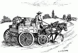 horse pulled wagon