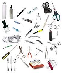 objetos cortantes