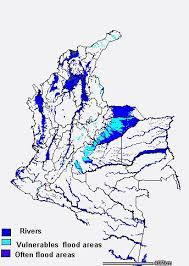 mapa de los rios de colombia