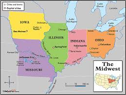 maps of the midwest