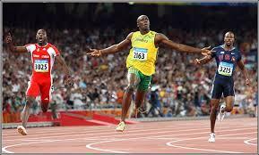 bolt 100m race
