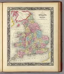 county map of england and wales