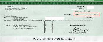 cheque images