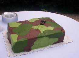 camouflage grooms cake