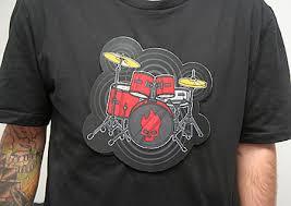 drum kit tshirt