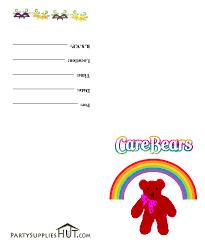care bears birthday invitations