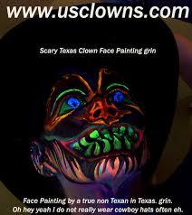 clown faces painted
