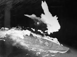 sinking battleship