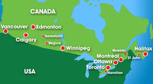 canada airport map