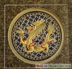 dragon embroidered