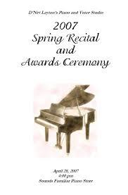 music recital program