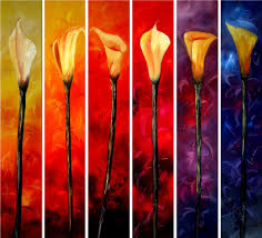 paintings of calla lilies