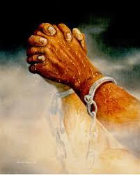 praying hands painting