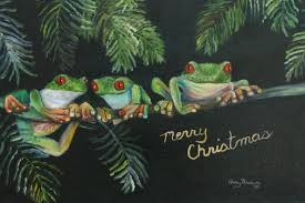 christmas frogs
