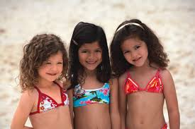 kids in swimwear