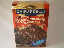 ghirardelli triple chocolate brownie