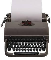 maquina de escribir y sus partes
