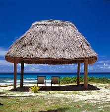 fiji beach hut
