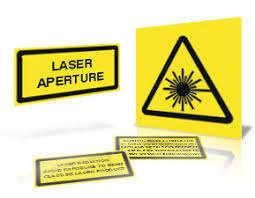 laser warning stickers
