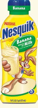 nesquik banana milk