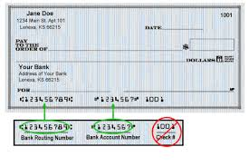banking routing numbers