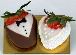 chocolate covered strawberry wedding