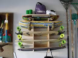 skateboarding rack