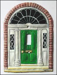 hand painted door