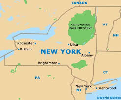 new york state map picture
