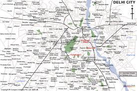 map of delhi city