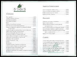 carta de restaurantes