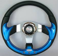 blue steering wheels