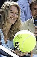 big tennis ball