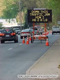 hazard road sign