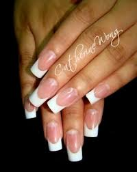 acrylic french nail