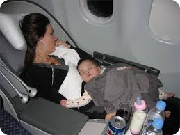 baby on airplane