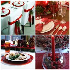 decorating the christmas table