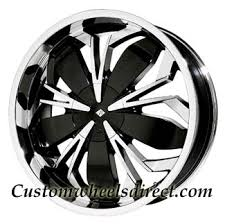 chrome and black wheels