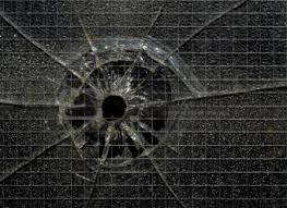 glass bullet holes