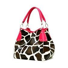 giraffe skin purses
