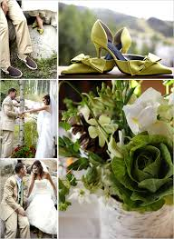 green and brown wedding ideas