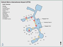 detroit airport maps