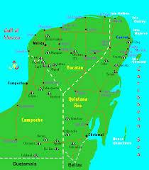 map mayan ruins