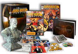Duke Nukem Forever game for PlayStation 3; Collectible bust of Duke Nukem; Numbered limited edition certificate of authenticity; 100-page hardcover book: