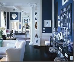 interior design blue
