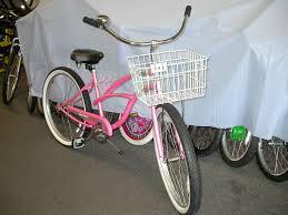 pink beach cruiser bicycle