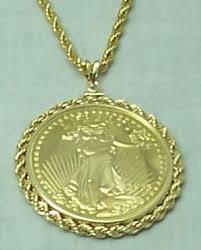 gold coin pendants