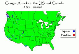cougar map